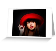 AMY & THE RED HAT   ... Greeting Card