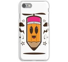 Fly Pencil Vector iPhone Case/Skin
