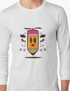 Fly Pencil Vector Long Sleeve T-Shirt