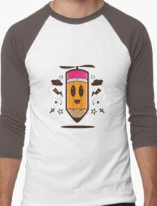 Fly Pencil Vector Men's Baseball ¾ T-Shirt