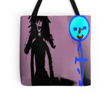 Stick Figure & Girl in Black, by (Mickeys Art And Design) Tote Bag