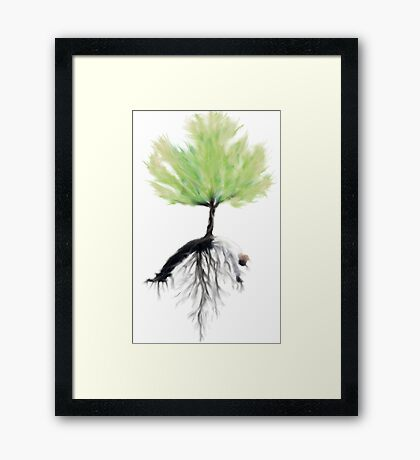 the corporate  tree Framed Print