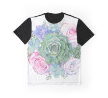 Succulent Bouquet Graphic T-Shirt