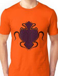 Cross & Heart - Purple Unisex T-Shirt