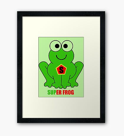SUPER FROG Framed Print