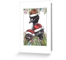 Christmas Emus Greeting Card