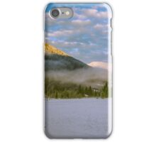 sunset after the first snowfall iPhone Case/Skin