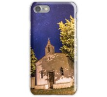 Milky way over a graveyard in Croatia iPhone Case/Skin