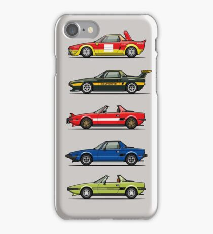 Stack of FlAT X1/9 Mid Engine Sport Cars iPhone Case/Skin