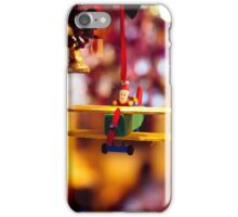 Santa Claus pilots a plane for Christmas iPhone Case/Skin