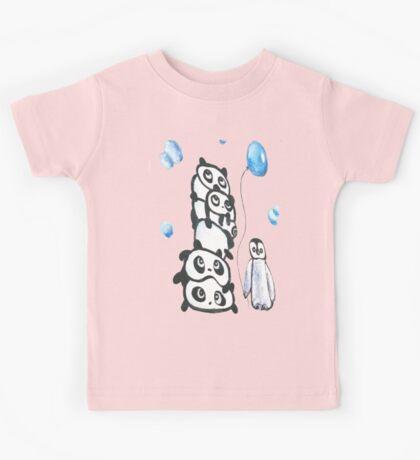 Kaz Art Creation Kids Pandas & Penguin  Kids Tee