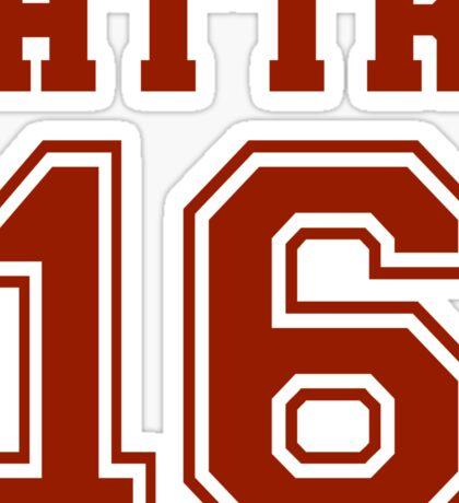 #HTTR - Hail To The Redskins Sticker