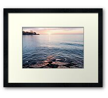 Rough and Soft - Silky Water and Hard Rocks at Sunrise Framed Print