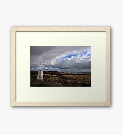 The Storm Breaks Framed Print