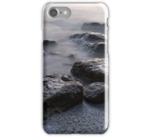 Rough and Soft - Smoky Waves and Rocks on the Beach  iPhone Case/Skin