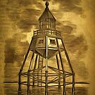 Maplin Sands Lighthouse, Thames Estuary, Essex 1875 by Dennis Melling