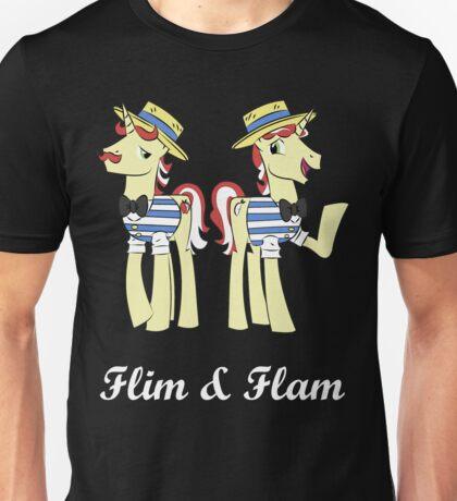 flim flam (wht text) Unisex T-Shirt