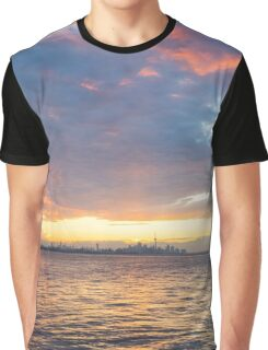 Just Before Sunrise - Toronto Skyline Under Spectacular Clouds Graphic T-Shirt