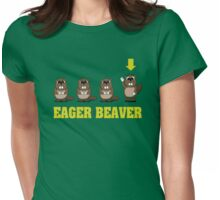 Eager Beaver! Womens Fitted T-Shirt