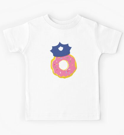 police hat with a doughnut Kids Tee