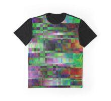 Seamless geometric pattern. Holographic design. Graphic T-Shirt