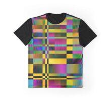 Spectrum geometric pattern. Holographic design. Graphic T-Shirt