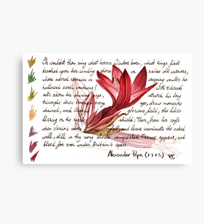 SPEAR LILY Canvas Print