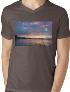 Minutes Before Sunrise - Toronto Skyline Under Spectacular Clouds Mens V-Neck T-Shirt