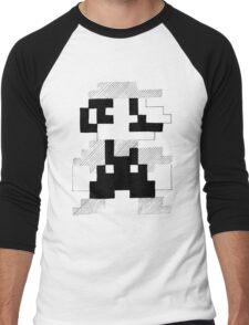 8 Bit Mario Men's Baseball ¾ T-Shirt