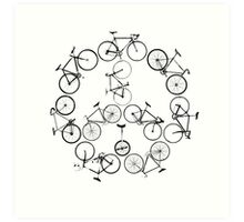 The Peace Cycle by Decibel Clothing Art Print