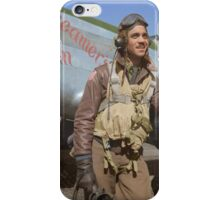 Edward C. Gleed Tuskegee airman — Colorized iPhone Case/Skin