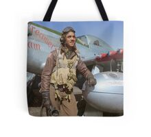 Edward C. Gleed Tuskegee airman — Colorized Tote Bag