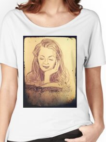 Alice reading in the afternoon  Women's Relaxed Fit T-Shirt