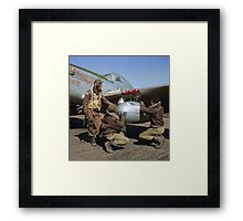 Edward C. Gleed and two other Tuskegee airman — Colorized  Framed Print