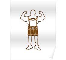 gesicht lustig horror monster comic cartoon brezel essen hunger lecker oktoberfest logo symbol cool design  Poster