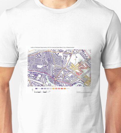 Multiple Deprivation Harrow Rd ward, Westminster Unisex T-Shirt