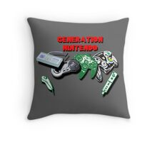 Generations of Nintendo Throw Pillow