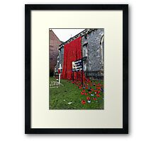 Warminster Town Hand-Knitted Poppies Framed Print