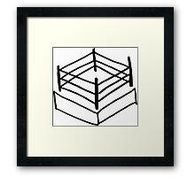Wrestling RIng Framed Print