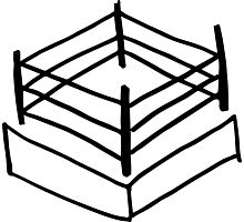 Wrestling RIng Photographic Print