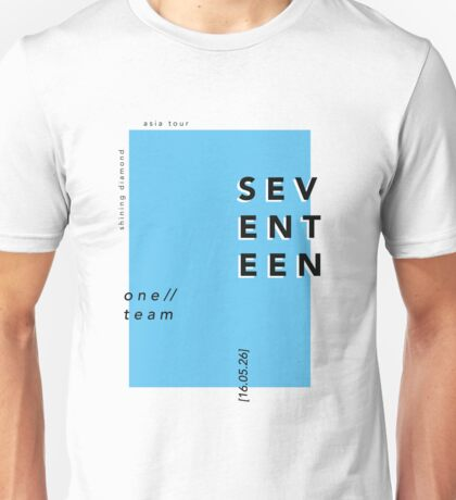 Seventeen Minimalism Blue Unisex T-Shirt