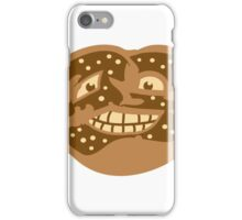 gesicht lustig horror monster comic cartoon brezel essen hunger lecker oktoberfest logo symbol cool design  iPhone Case/Skin
