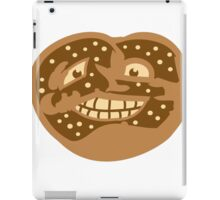 gesicht lustig horror monster comic cartoon brezel essen hunger lecker oktoberfest logo symbol cool design  iPad Case/Skin