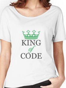 King of Code - black Women's Relaxed Fit T-Shirt