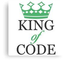 King of Code - black Canvas Print