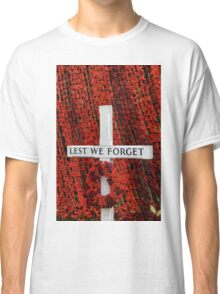 Warminster Town Hand-Knitted Poppies Classic T-Shirt