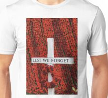 Warminster Town Hand-Knitted Poppies Unisex T-Shirt