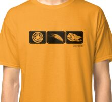Reel, fly and pike - black Classic T-Shirt