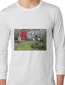 Warminster Town Hand-Knitted Poppies Long Sleeve T-Shirt
