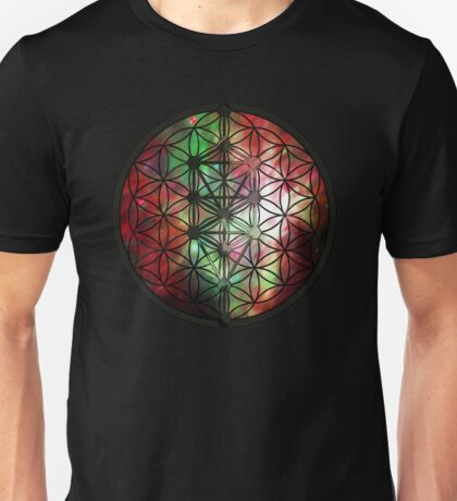 Sacred Geometry: Flower Of Life / Tree Of Life (Painted Cosmos III) Unisex T-Shirt